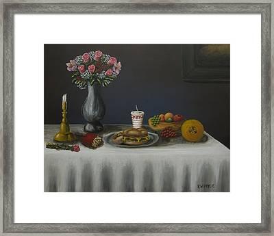 Classico Vita Ancora Con Il Pasto Americano Modern Framed Print by Kenneth Drylie