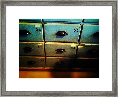 Classified Framed Print by Olivier Calas