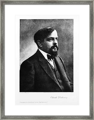 Claude Debussy, French Composer Framed Print by Photo Researchers