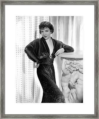 Claudette Colbert, 1934 Framed Print by Everett