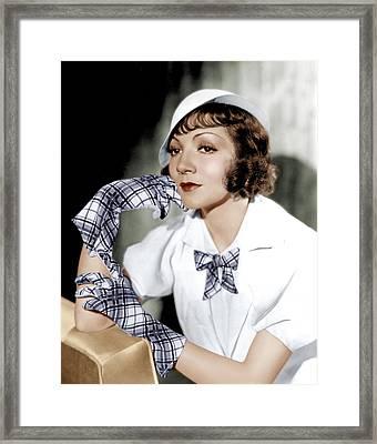 Claudette Colbert, Ca. 1933 Framed Print by Everett