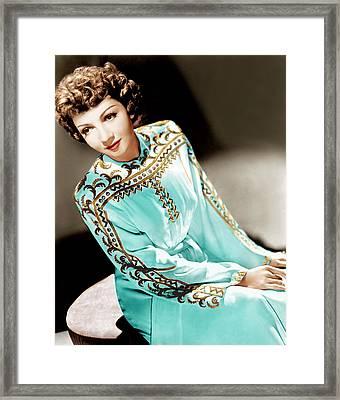 Claudette Colbert, Ca. 1940s Framed Print by Everett