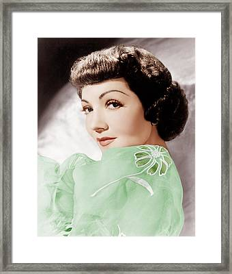 Claudette Colbert, Ca. 1950 Framed Print by Everett