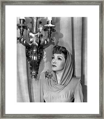 Claudette Colbert Framed Print by Everett