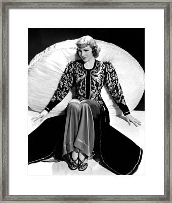 Claudette Colbert, In A Travis Banton Framed Print