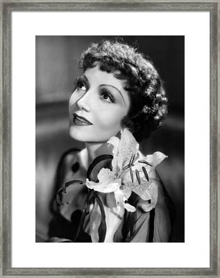 Claudette Colbert, Paramount Pictures Framed Print by Everett