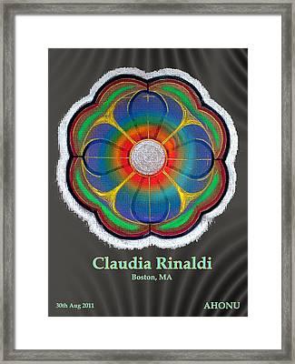 Claudia Rinaldi Framed Print by Ahonu