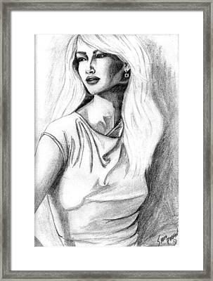 Claudia Framed Print by Sarah Farren