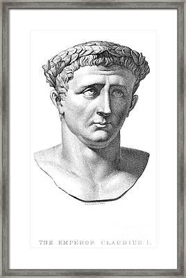 Claudius I (10 B.c.-54 A.d.) Framed Print by Granger