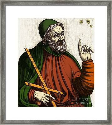 Claudius Ptolemy, Greek-roman Polymath Framed Print