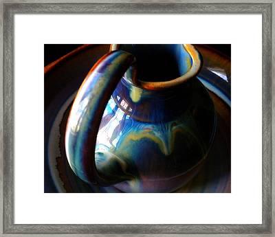 Clay Pitcher Framed Print by Kristen Cavanaugh