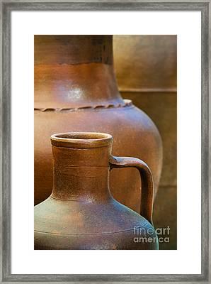 Clay Pottery Framed Print by Carlos Caetano