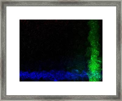 Framed Print featuring the digital art Claystroke by Jeff Iverson
