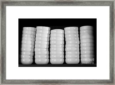 Clean White No.1 Framed Print