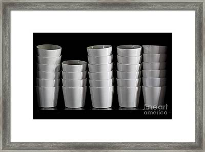 Clean White No.5 Framed Print by Chavalit Kamolthamanon