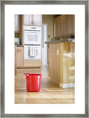 Cleaning Kitchen Framed Print
