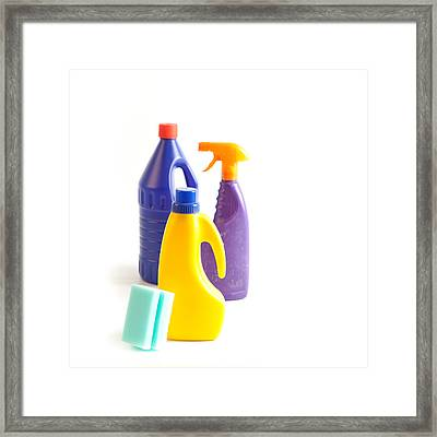 Cleaning Framed Print by Tom Gowanlock