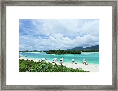 Clear Blue Lagoon, Paradise Beach, Ishigaki, Japan Framed Print by Ippei Naoi
