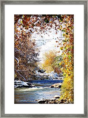 Clear Creek Golden Framed Print by Rhonda DePalma