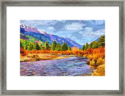 Clear Creek Vista Framed Print