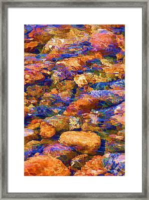 Framed Print featuring the digital art Clear Creek Waters by Brian Davis