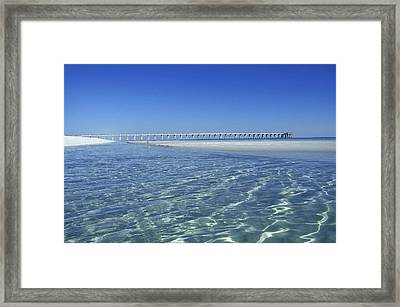 Clear Day At The Pier Framed Print