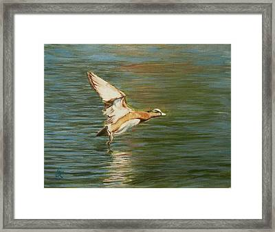 Clear For Takeoff Framed Print by George Kramer