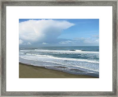 Clearing And Crashing Framed Print