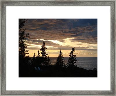 Framed Print featuring the photograph Clearing Sky by Bonfire Photography