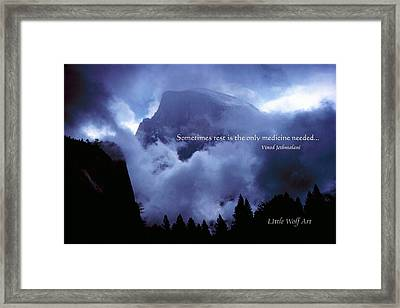 Clearing Storm Half Dome Framed Print