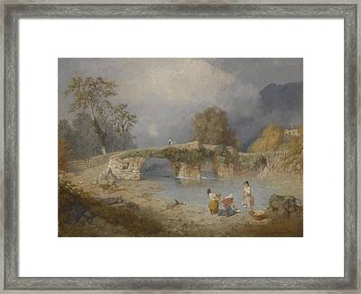 Clearing Up For Fine Weather Beddgelert North Wales 1867 Framed Print by James Baker Pyne