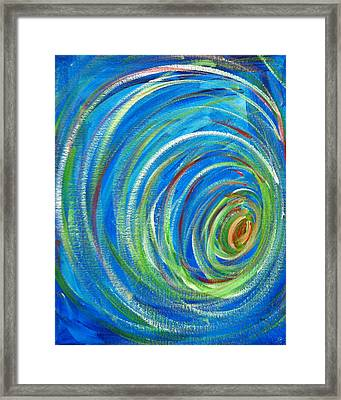 Cleft Of The Rock Framed Print by Bethany Stanko