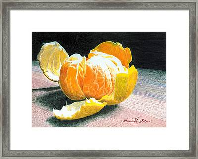 Framed Print featuring the painting Clementine by Ana Tirolese