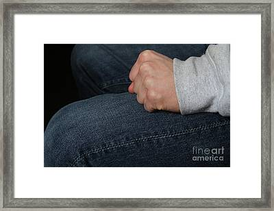 Clenched Fist 2 Of 2 Framed Print by Photo Researchers