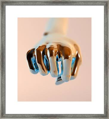 Clenched Fist, Computer Artwork Framed Print by Christian Darkin