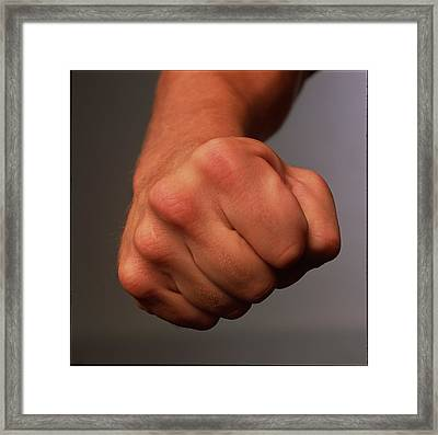 Clenched Fist Framed Print by Phil Jude