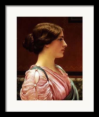 Femal Portrait Framed Prints