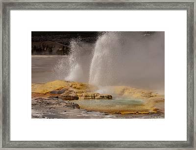 Clepsydra Geyser Yellowstone National Park Framed Print by Bruce Gourley