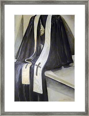 Clergy Attire Framed Print by Linda Pope