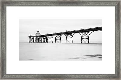 Clevedon Pier Framed Print by © Julian Provis