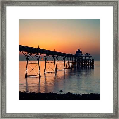 Clevedon Pier Framed Print by Martin Turner