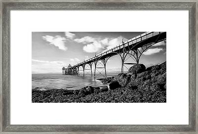 Clevedon Pier Framed Print by Photographer Nick Measures