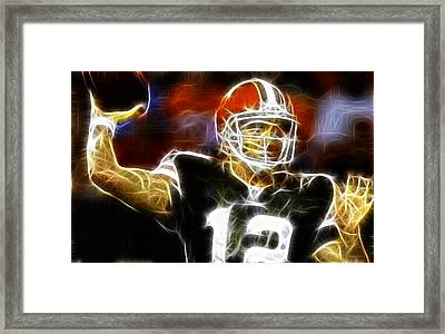 Cleveland Browns Colt Mccoy Framed Print by Paul Van Scott