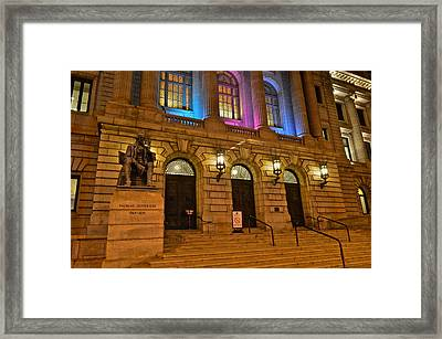 Cleveland Court House Framed Print by Frozen in Time Fine Art Photography