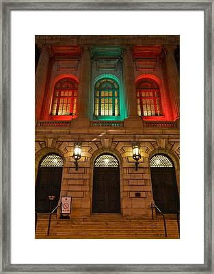 Cleveland Courthouse Framed Print by Frozen in Time Fine Art Photography
