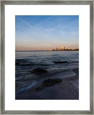 Cleveland From The Shadows Framed Print