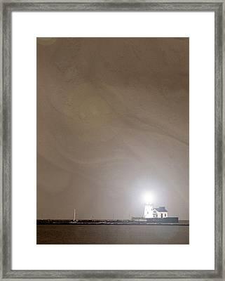 Cleveland Lighthouse I Framed Print by Kenneth Krolikowski