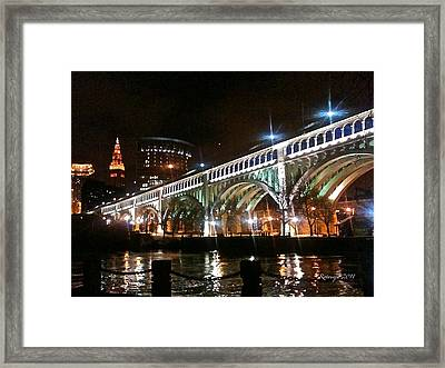 Cleveland Reflection Framed Print by Rotaunja