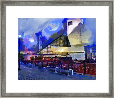 Cleveland Rocks Framed Print by Anthony Caruso