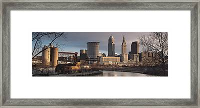 Cleveland Skyline From The Industrial Valley Framed Print by At Lands End Photography